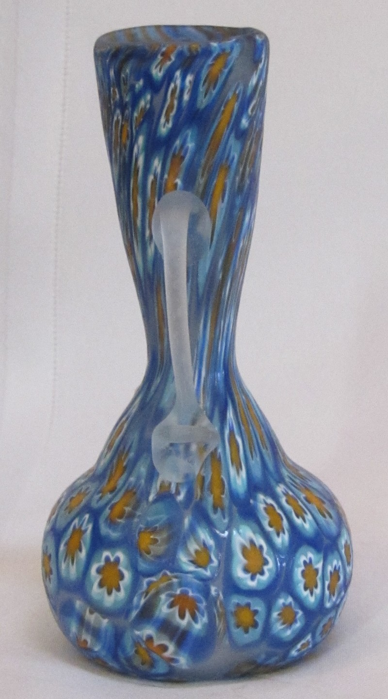 Fratelli Toso Double Handled Millefiori Vase Early Lovely For Sale Antiques Com Classifieds