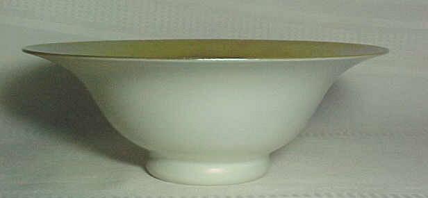 Steuben calcite gold aurene centerpiece footed bowl for