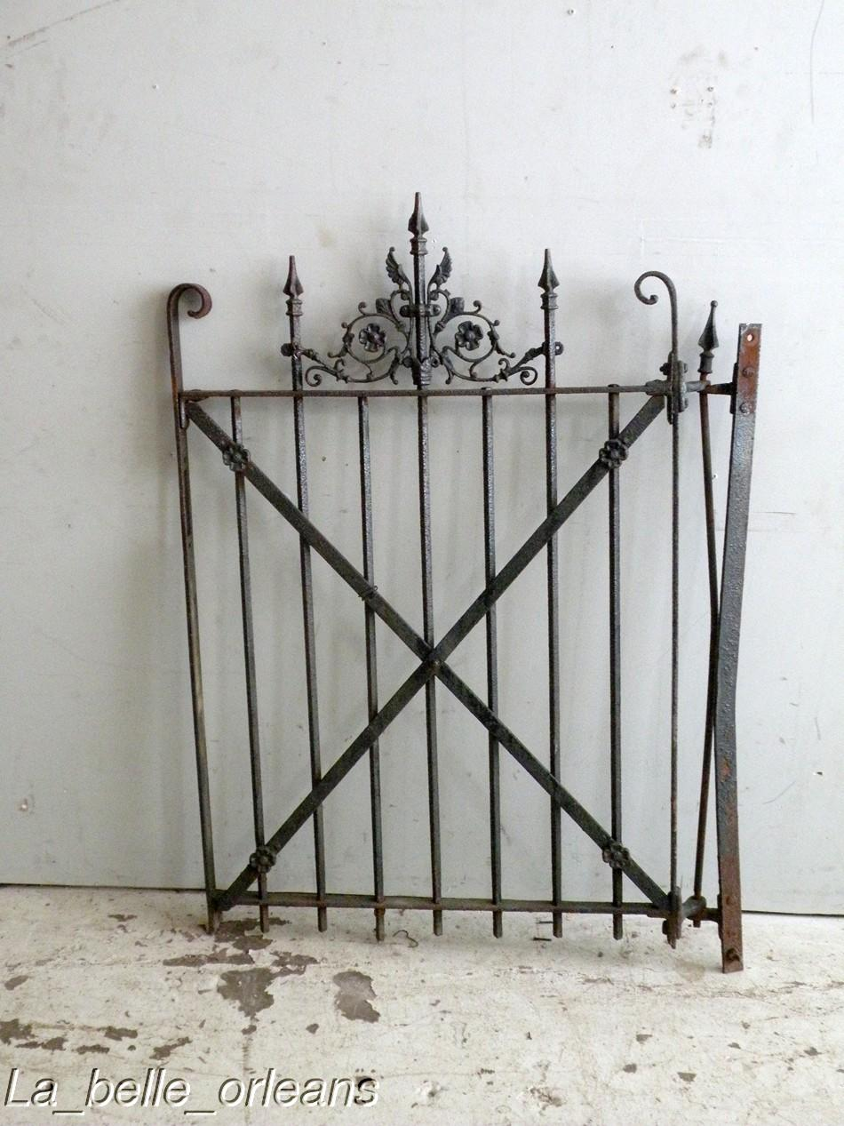 sweet new orleans cast iron yard garden gate wings