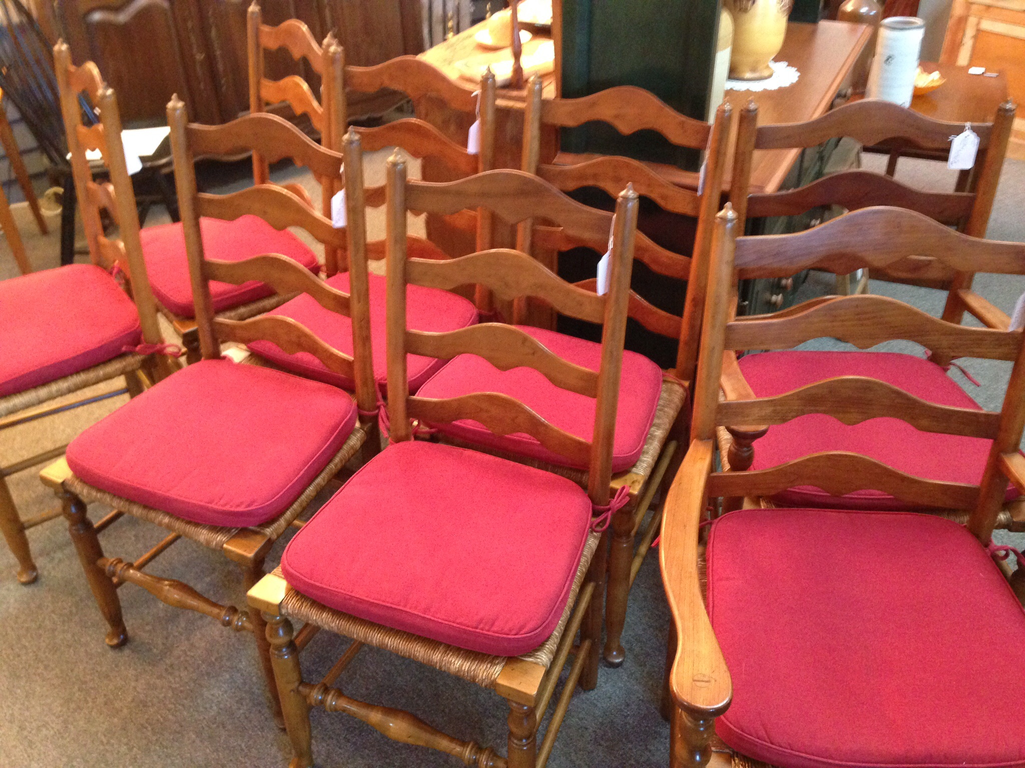 Stickley Ladder Back Rush Seat Chairs For Sale Antiquescom