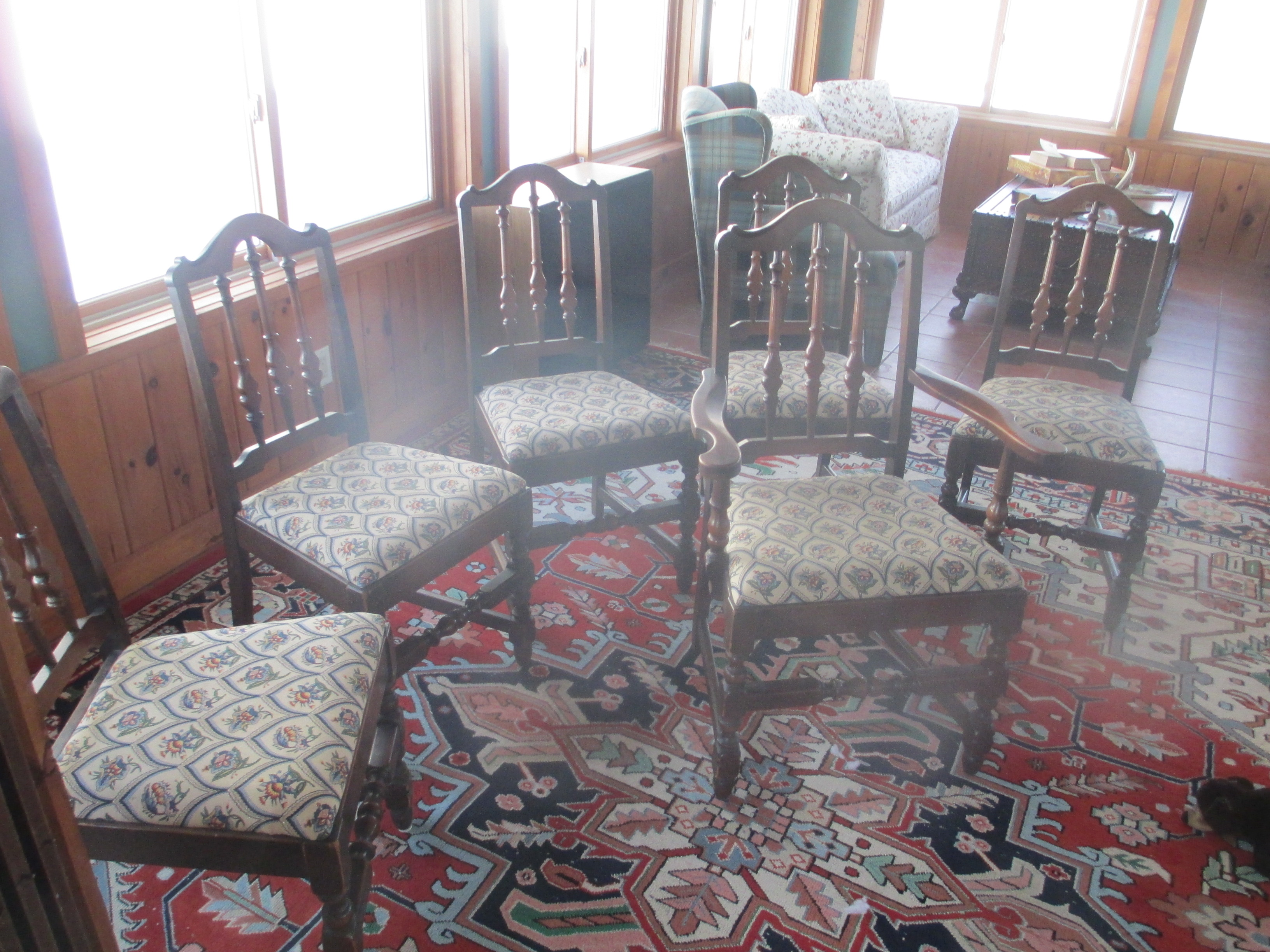 Flint horner dining room table chairs for sale classifieds - Antique dining room set for sale ...
