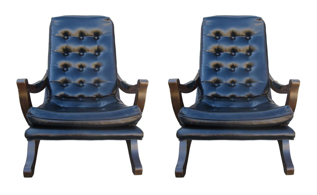 Pair Of Colonial Style Spanish Armchairs For Sale