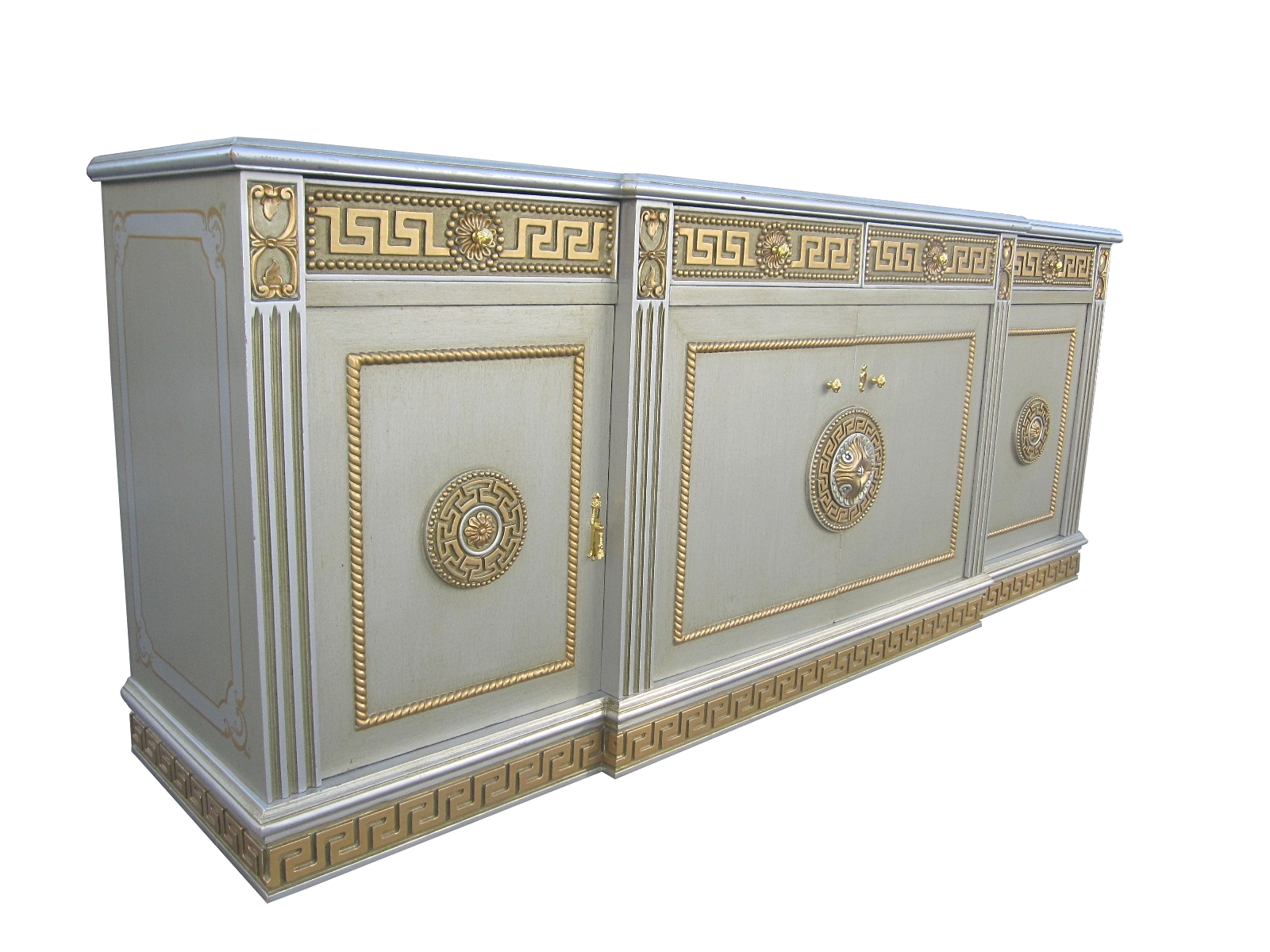 James Mont Style Buffet Neo Classical Greek Key Motif   For Sale