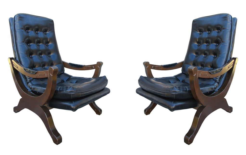 Pair Of Colonial Style Spanish Armchairs For