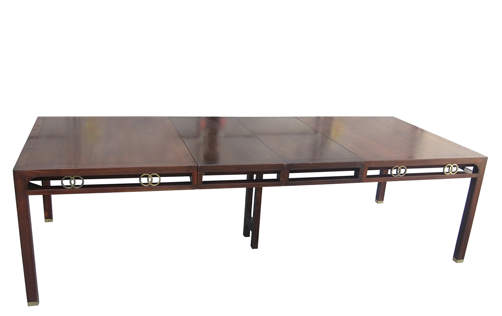 Bon Michael Taylor Massive Mahogany Dining Table For Baker, Far East Collection    For Sale