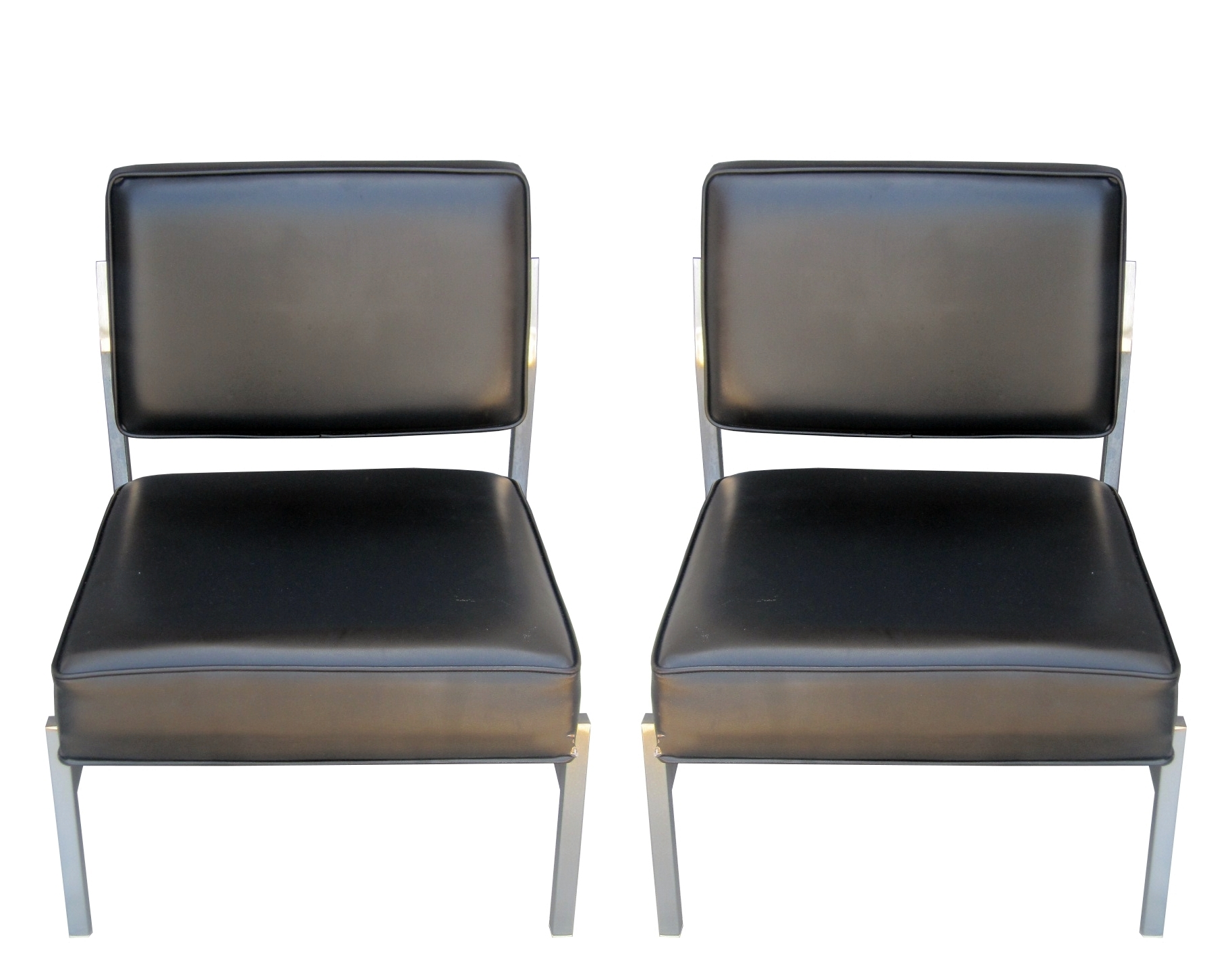 Pair Of Florence Knoll Slipper Chairs Circa 1960s 8