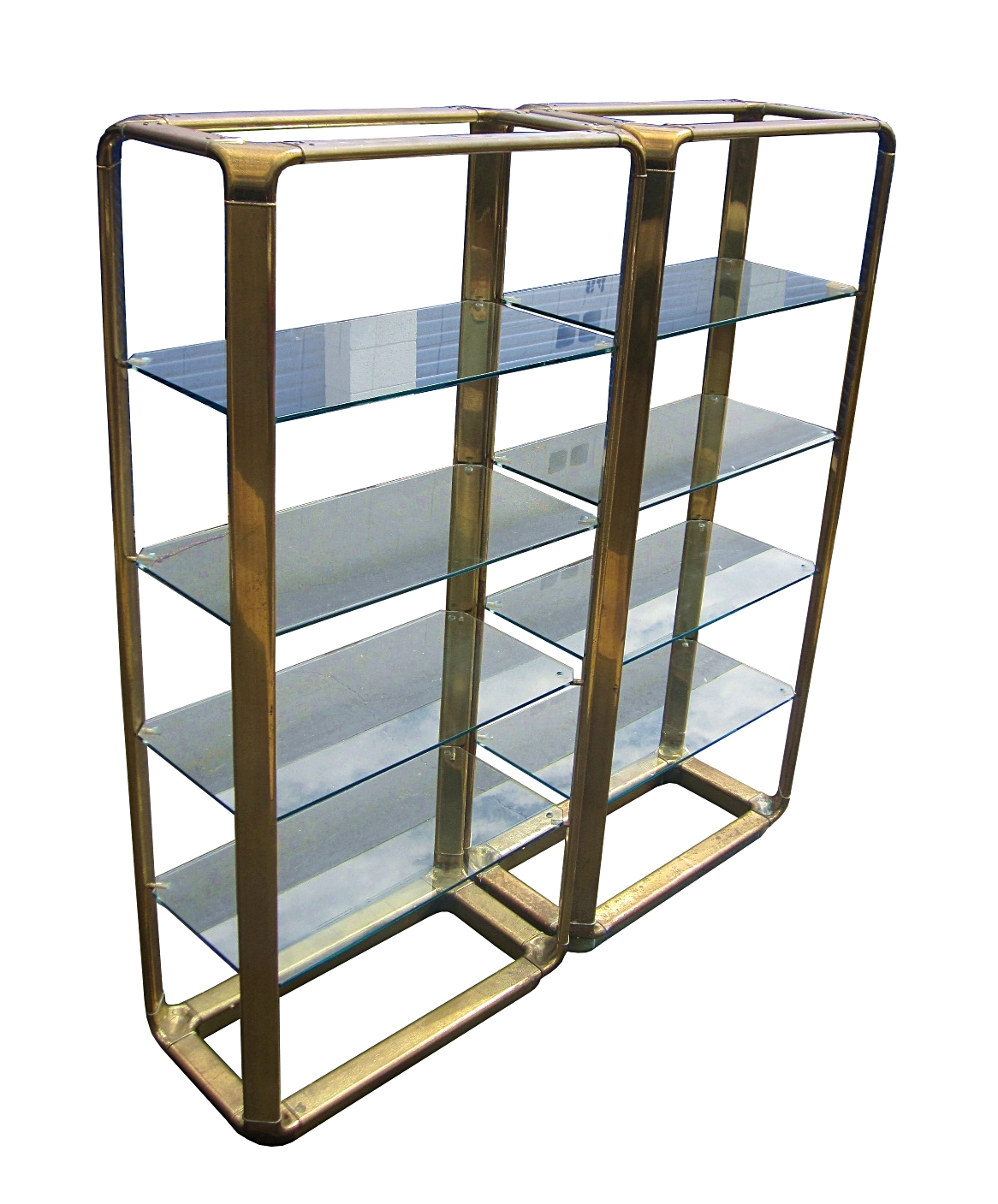 john widdicomb solid brass etageres can be sold. Black Bedroom Furniture Sets. Home Design Ideas