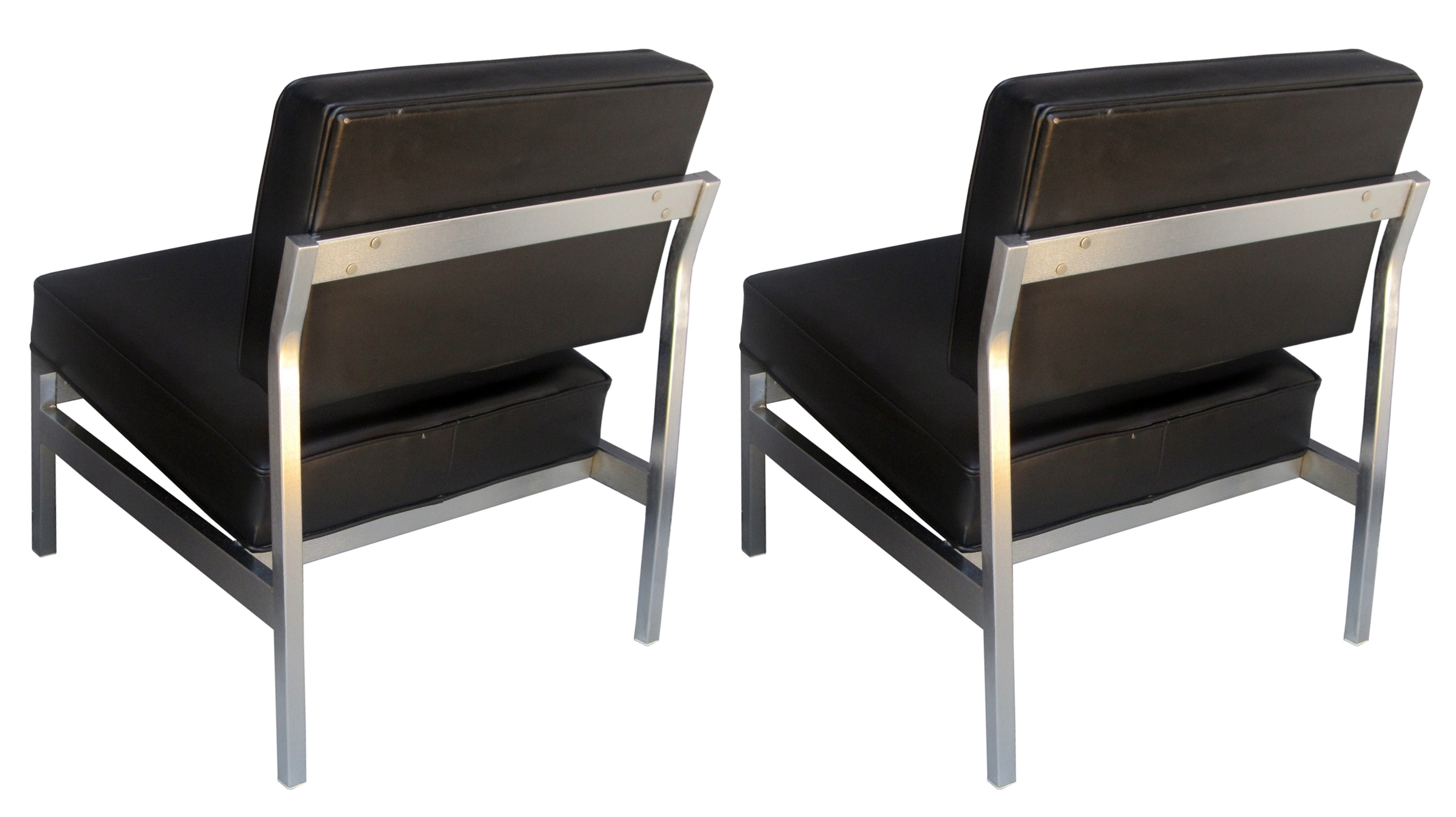 pair of florence knoll slipper chairs circa 1960s 8 chairs