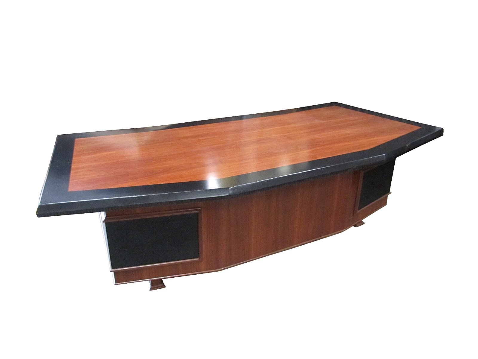 Monteverdi young massive executive desk with leather Desk for sale
