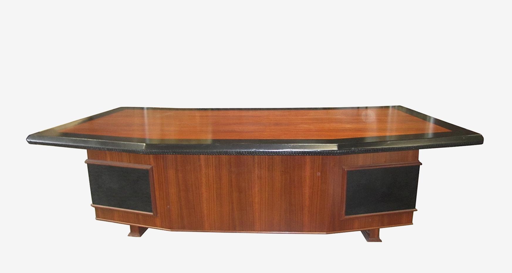 huge desk. Monteverdi \u0026 Young Massive Executive Desk With Leather Accents - For Sale Huge