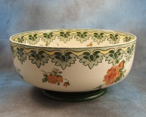 Item Antique Royal Doulton Fruit Bowl Indestructible Flowers Pattern Seriesware Age c1900 - 1905 Size Diameter - 10 1/8 inches (26 cms) Condition Fair ... & Antique Royal Doulton Fruit Bowl Indestructible Flowers For Sale ...