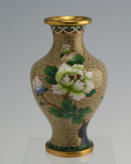 Vintage Chinese Cloisonne Vase Brass For Sale Antiques