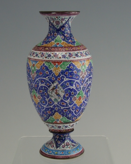 Antique Chinese Canton Enamel Copper Vase For Sale Antiques
