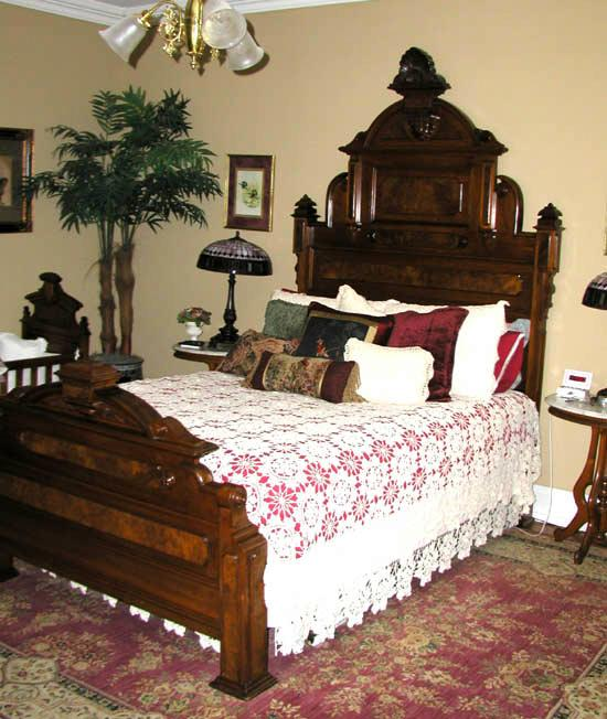 High Back Victorian Bed With Paneled Headboard And
