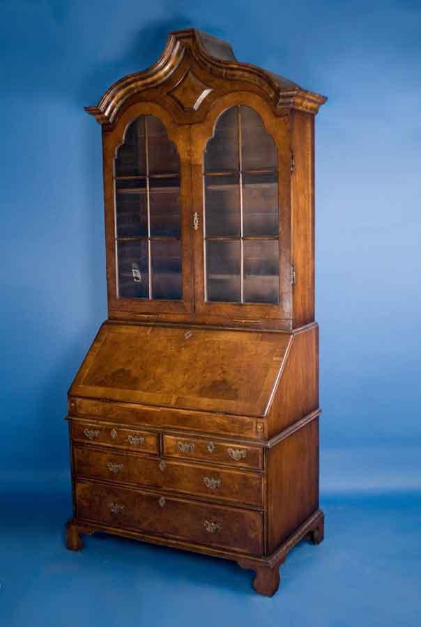 Antique English Secretary Bookcase
