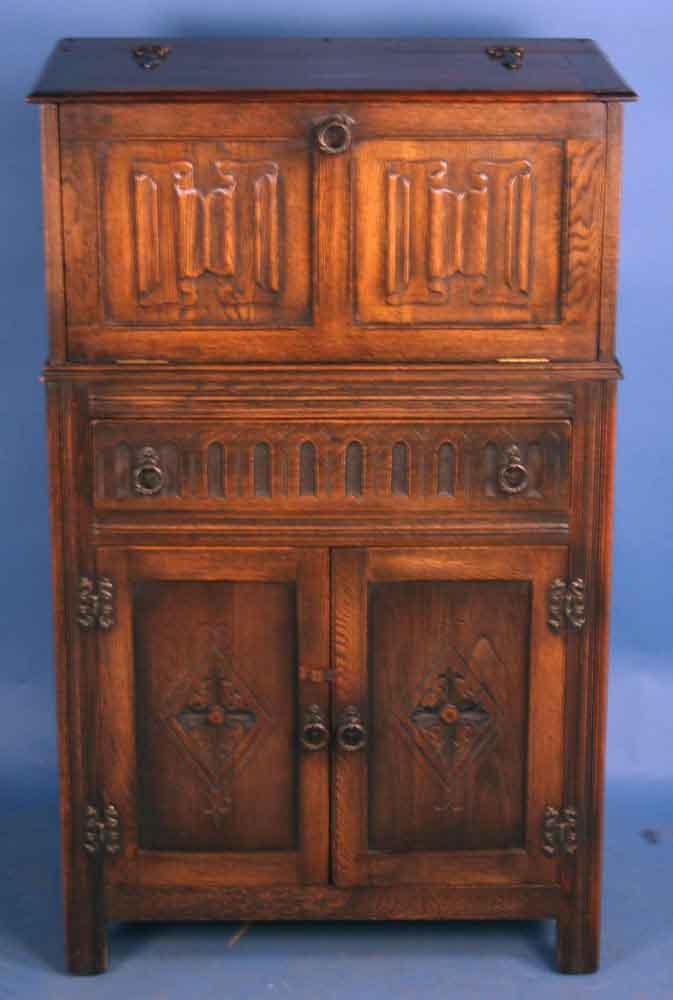 Antique Oak Jacobean Liquor Cabinet - For Sale & Antique Oak Jacobean Liquor Cabinet For Sale | Antiques.com ...
