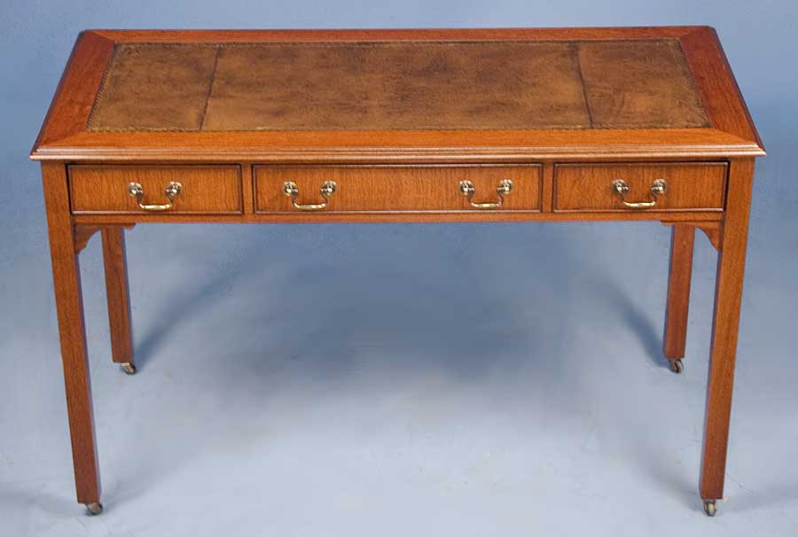 Antique Style English Mahogany Writing Desk - For Sale - Antique Style English Mahogany Writing Desk For Sale Antiques.com