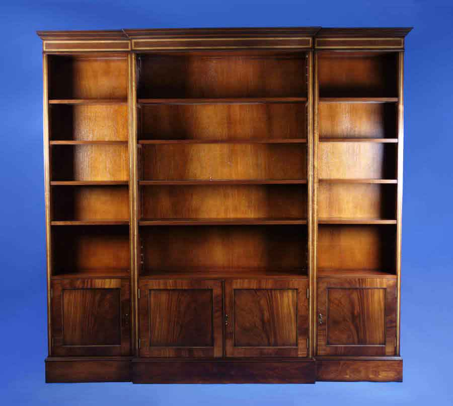 Wood Bookshelves For Sale: Antique Style Mahogany Bookcase For Sale