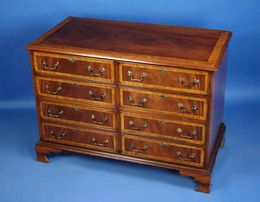 Beautiful Circa: 2000 Width: 48 Height: 34 Length: 25 This English Mahogany File  Cabinet Is Handmade In England As A Reproduction Of A Georgian Period  Antique.