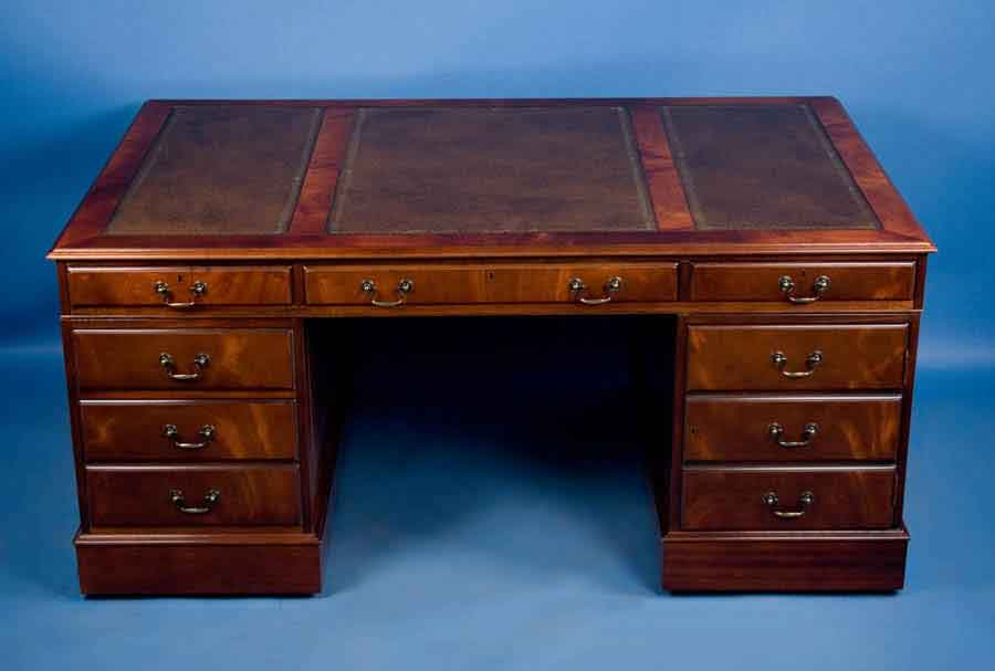 Antique style mahogany partners desk for sale antiques Desk for sale