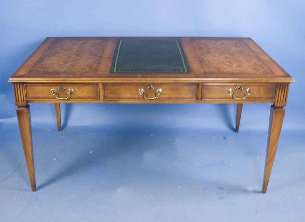 Antique Style Walnut Writing Desk For Sale