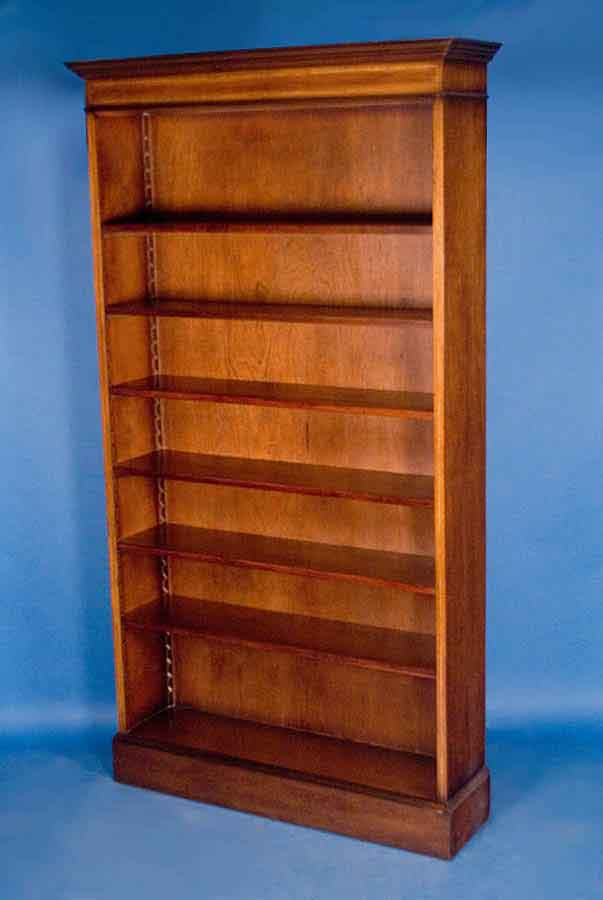 English Mahogany Single Open Bookcase For Sale  Antiques