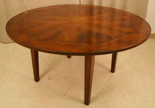 inlaid round cherry dining table for sale classifieds. Black Bedroom Furniture Sets. Home Design Ideas