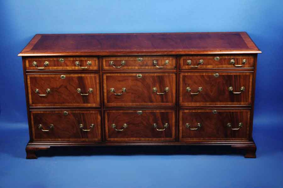 Mahogany six drawer file cabinet for sale for Kitchen drawers for sale