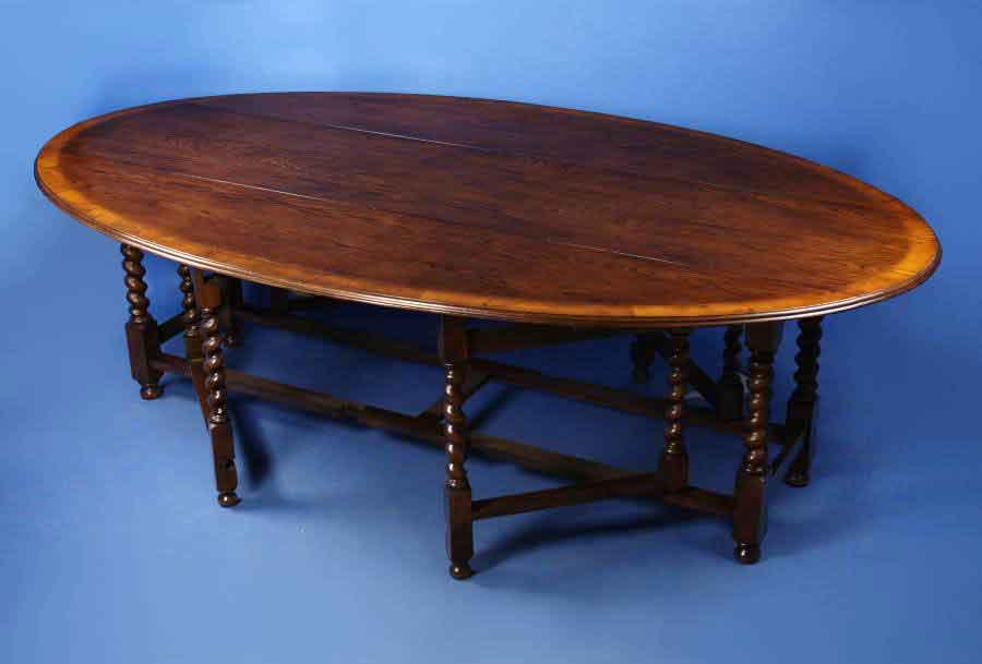 Oak Gate Leg Dining Table For Sale