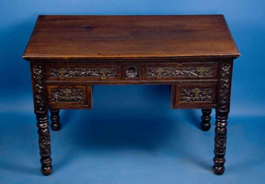 victorian oak writing desk for sale