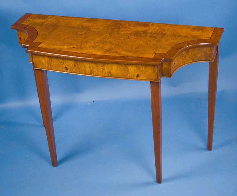 Foyer Table Sale : Walnut bow front hall table for sale antiques