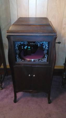 Wine Cabinet Victrola Repurposed For Sale Antiques Com Classifieds