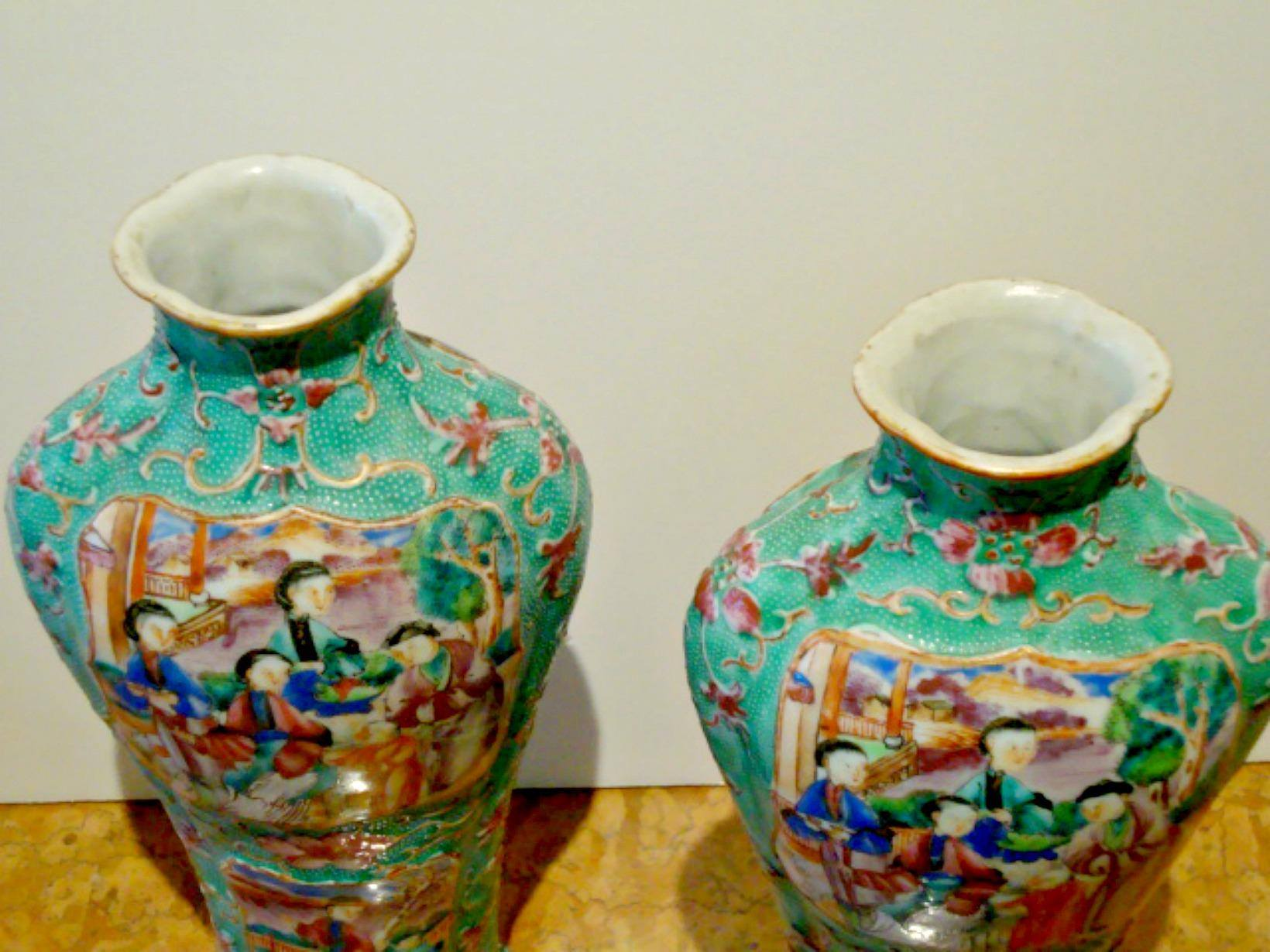 A five pair of chinese export vases chicken skin texture for sale a very fine pair of antiques chinese porcelain vases circa 1715 to 1725 with a chicken skin texture a beautiful turquoise ground with reserves of white floridaeventfo Choice Image