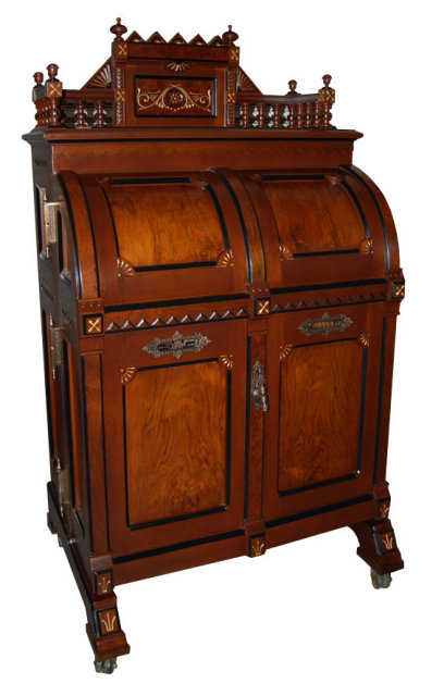 (182.88 Cm) Width: 74 In. (187.96 Cm) Depth: 29 In. (73.66 Cm) Country Of  Origin USA Maker Wooton Desk Co. Style:Eastlake Condition Restored Year C.