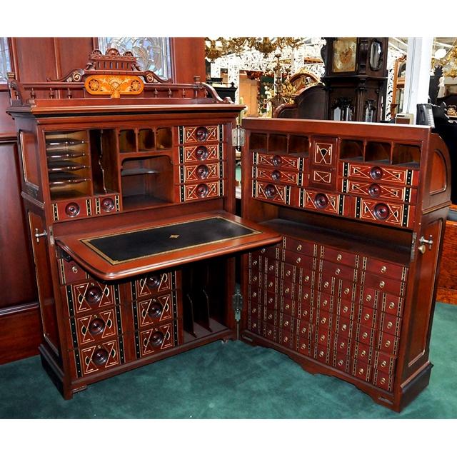 "Eastlake Furniture For Sale ... Queen"" Cabinet Desk c. 1878 For Sale   Antiques.com   Classifieds"