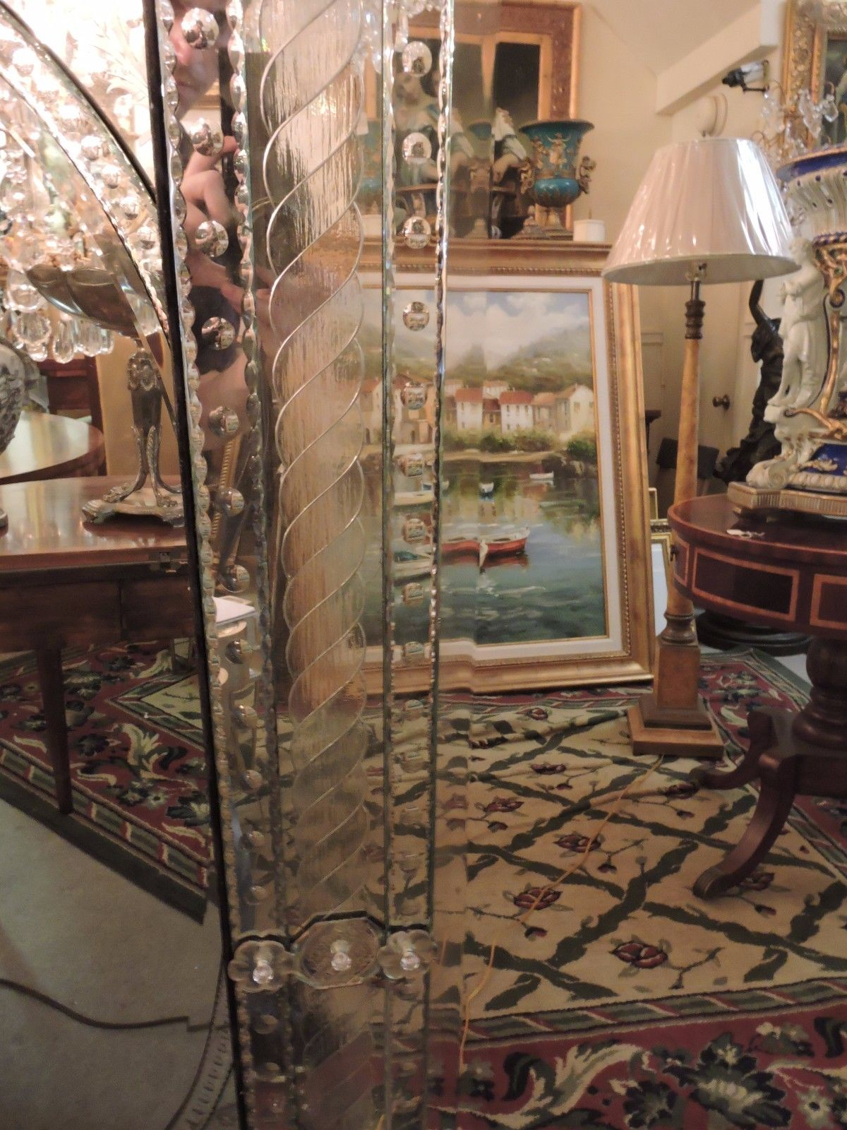 Large Venetian Wall Mirror All Hand Crafted Made In Italy For Sale Antiques Com Classifieds