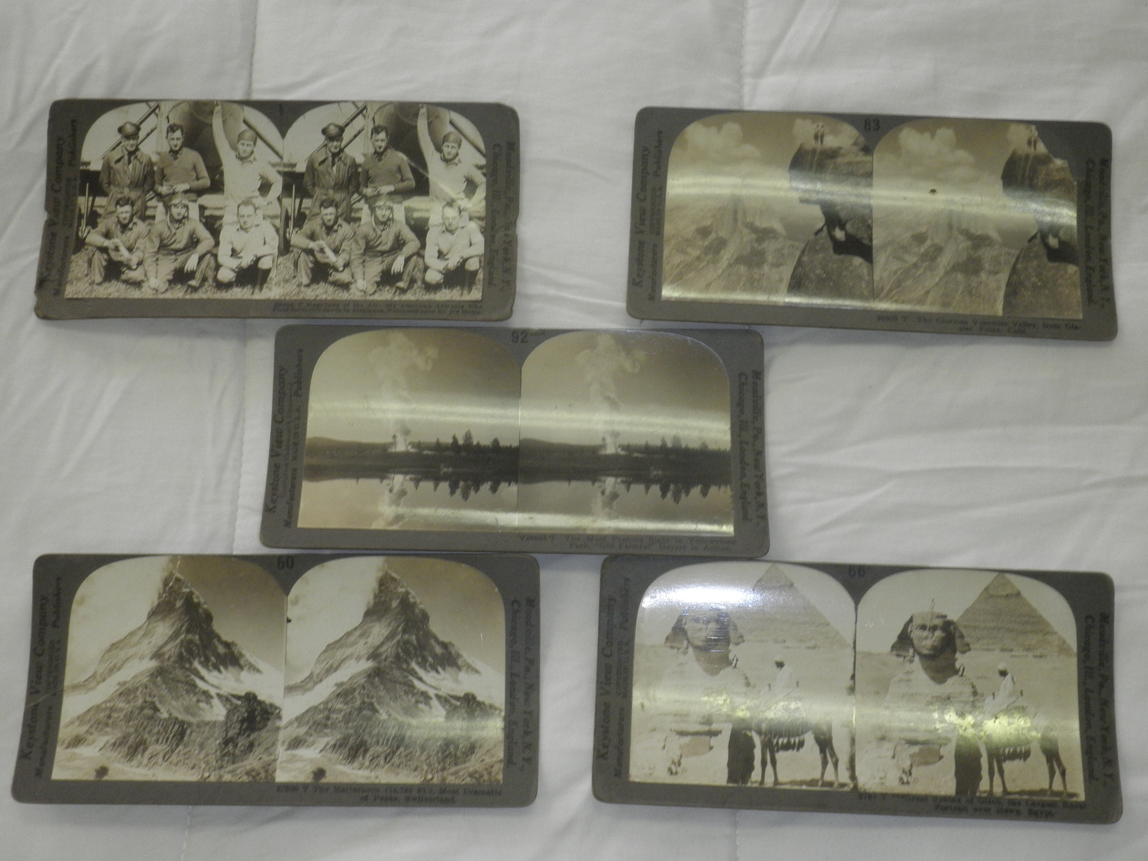 Antique stereoscope slides modified