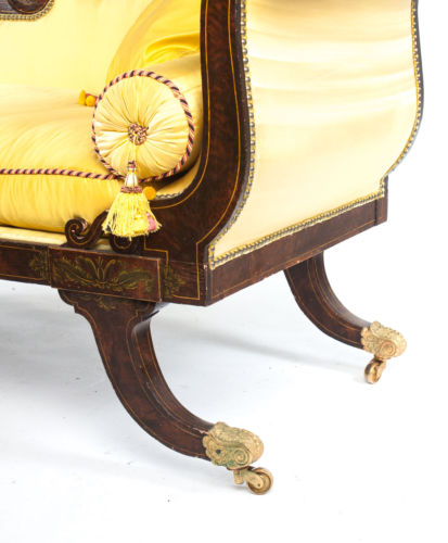 Antique george iv faux bois upholstered chaise circa 1820 for Antique chaise for sale