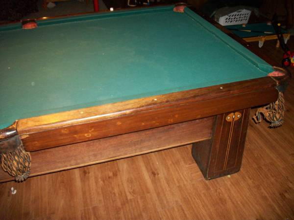 The Brunswick Balke Collender Pool Table For Sale Antiquescom - Old brunswick pool table