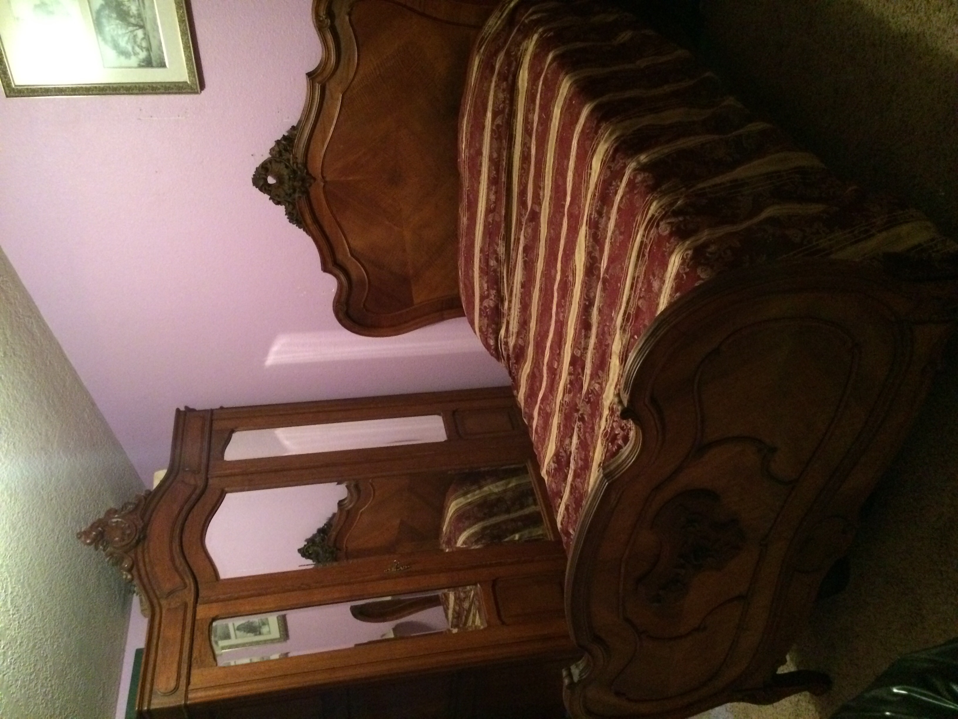 Lovely French Louis Xv 2 Piece Bedroom Set For Sale
