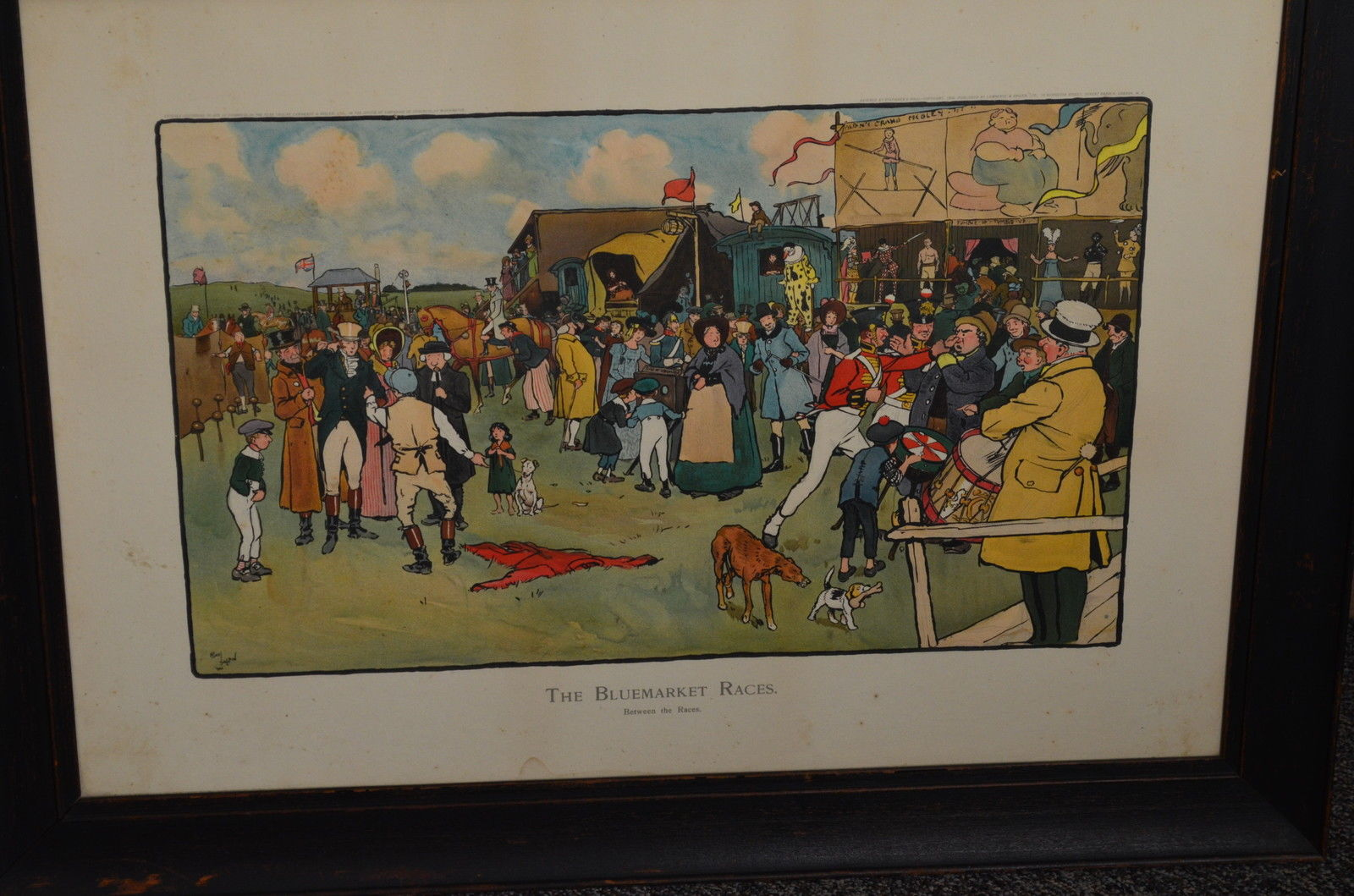 1 Of 6 Framed 1901 Cecil Aldin The Bluemarket Races