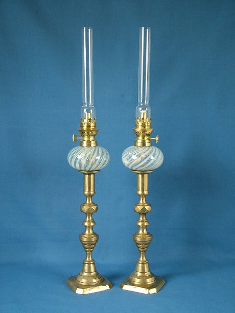 pair victorian satin glass peg lamps for sale. Black Bedroom Furniture Sets. Home Design Ideas