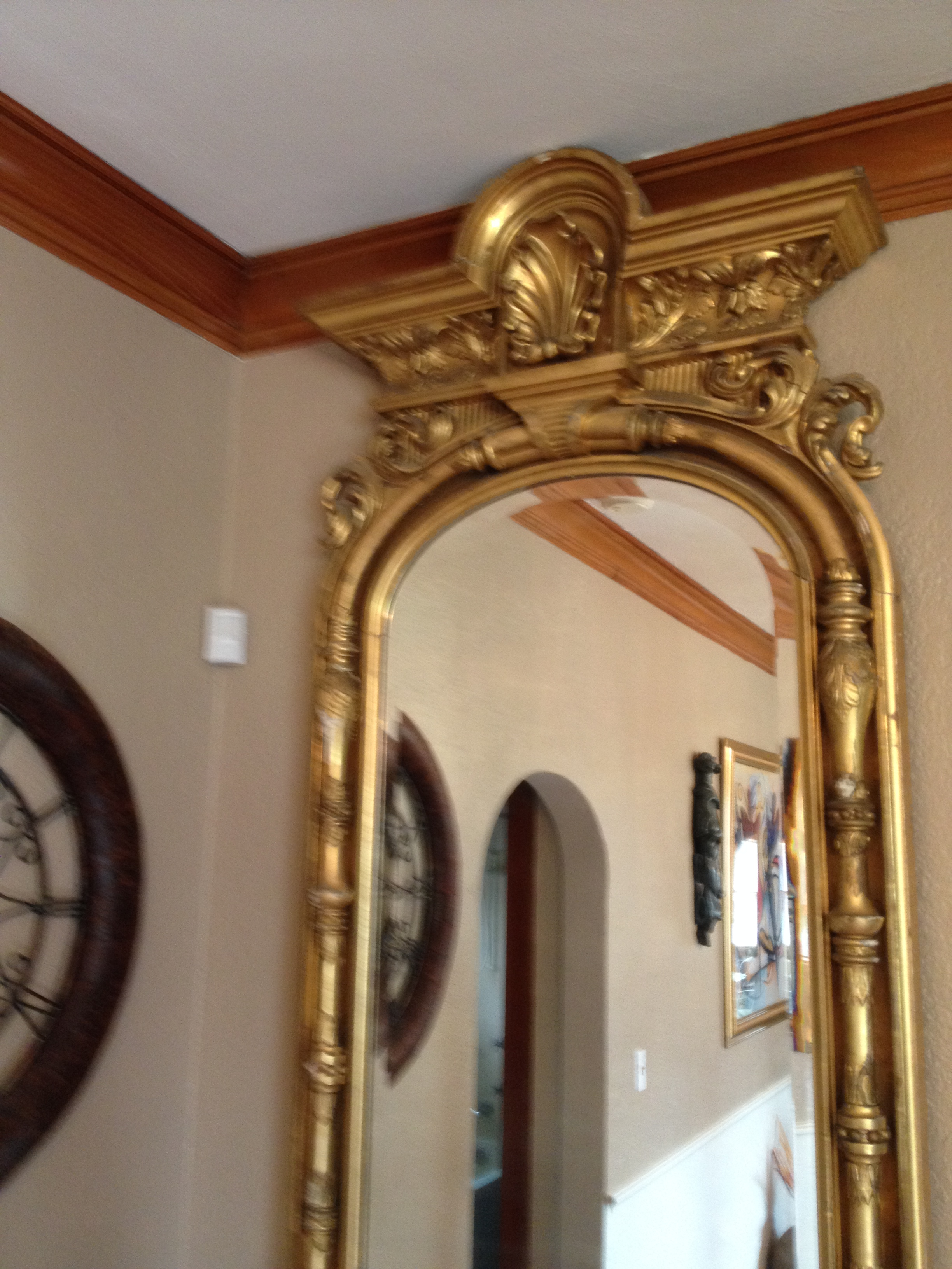 5780db7bc Mirror 18k Gold - Vintage Floor Mirror For Sale | Antiques.com | Classifieds