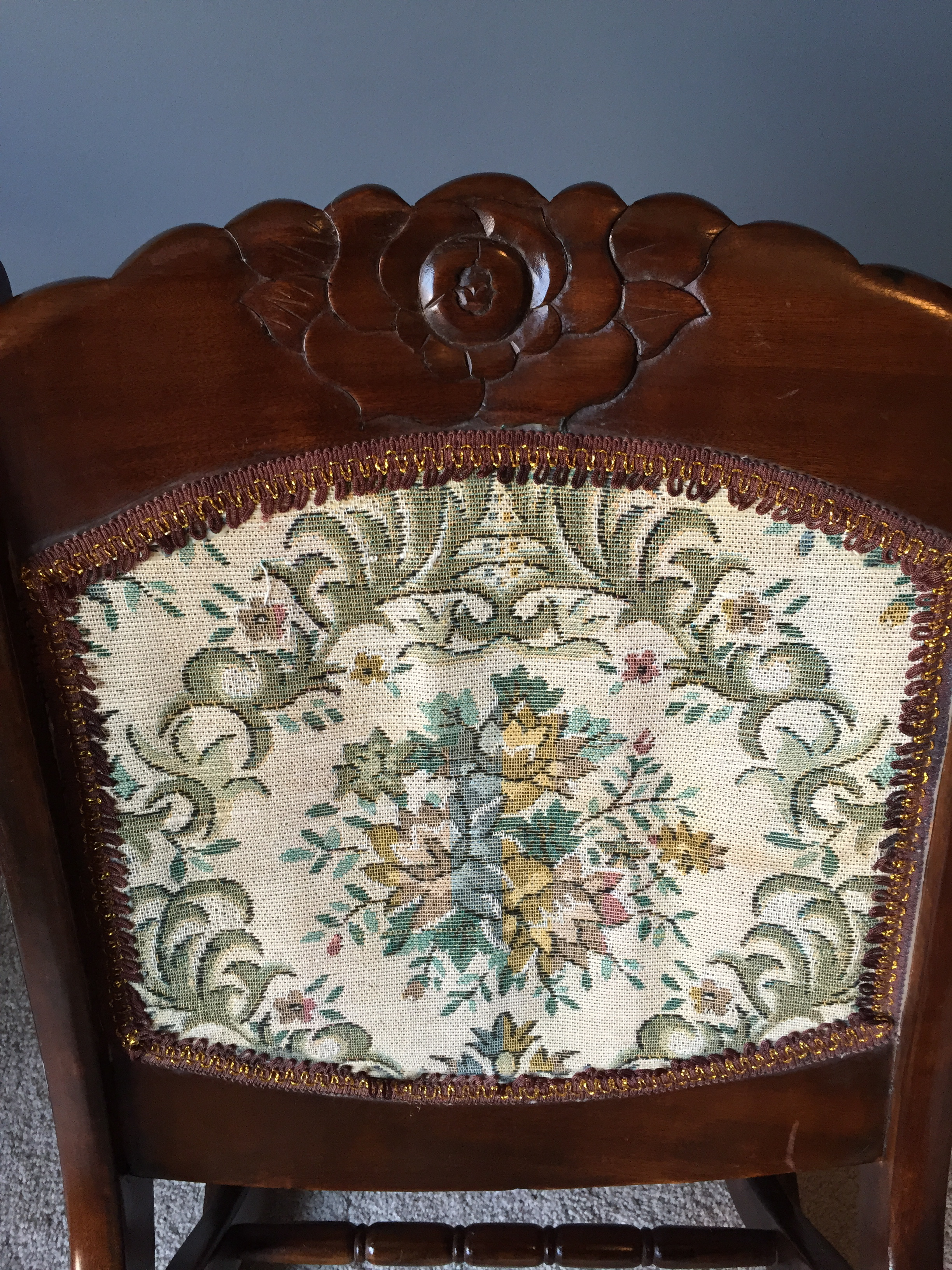 Antique Sewing Chair - Antique folding rocking sewing chair w victorian tapestry for sale antiques com classifieds
