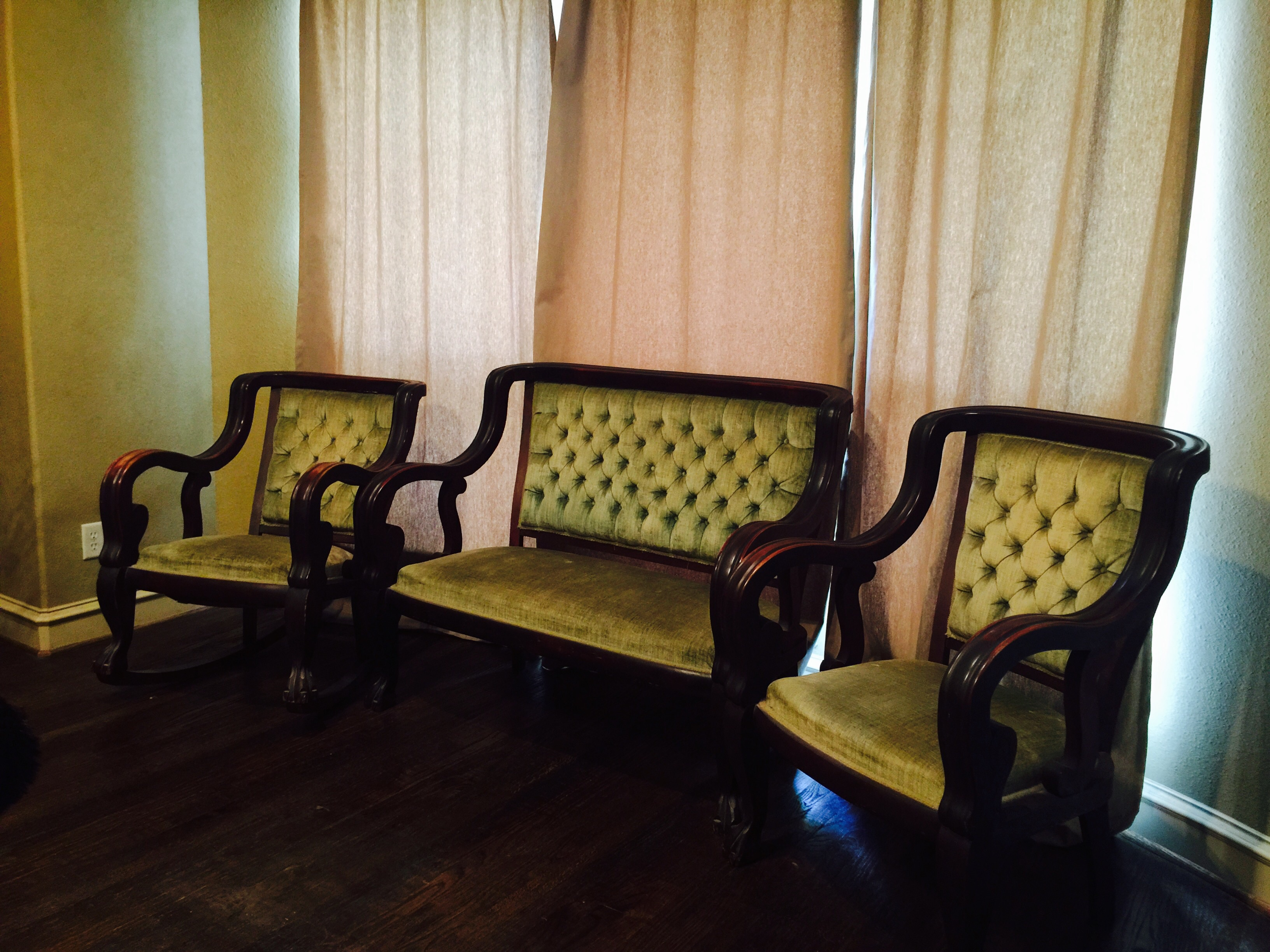 Antique Parlor Furniture Set For