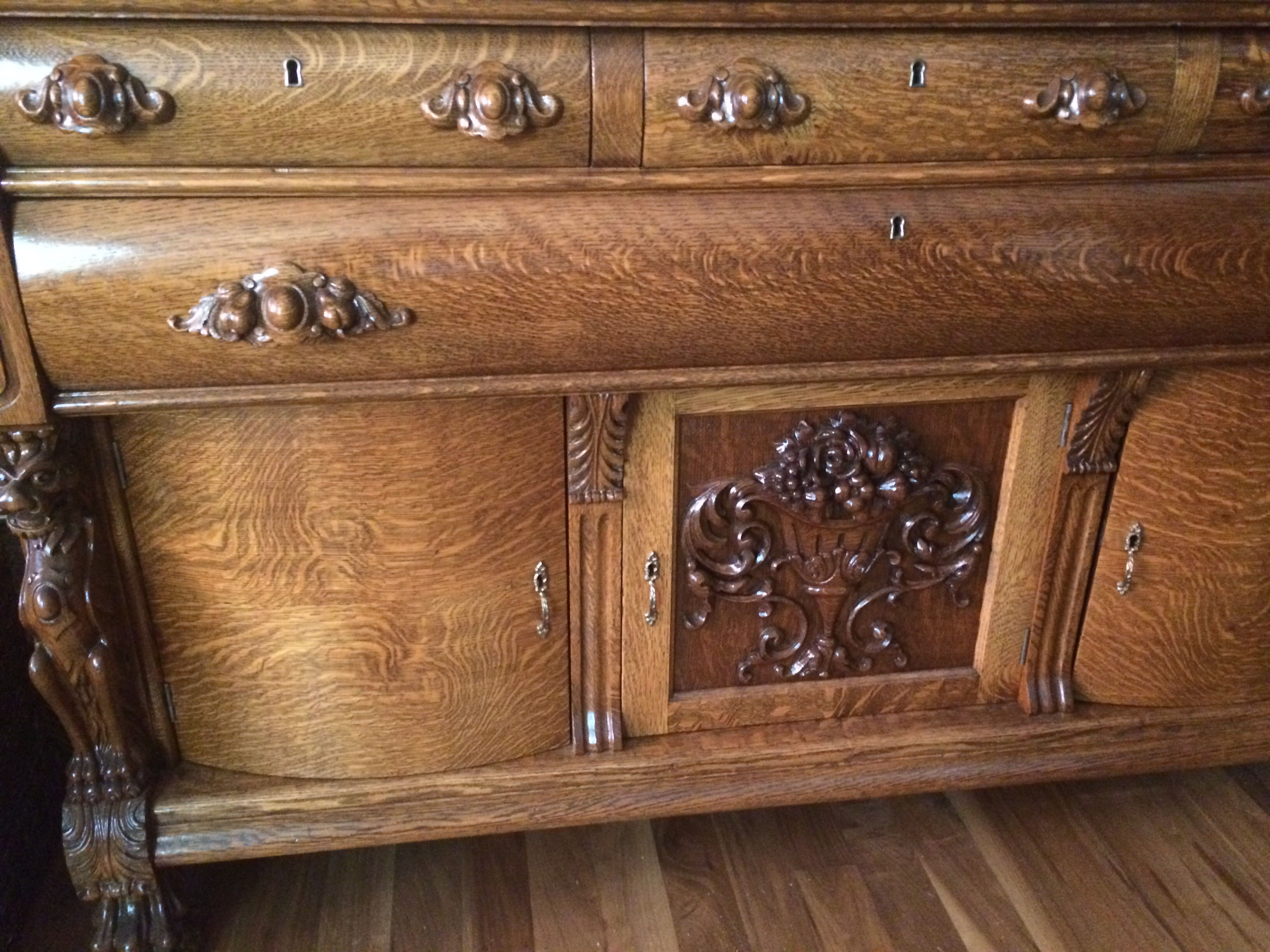 Set In Pristine Condition Hand Carved