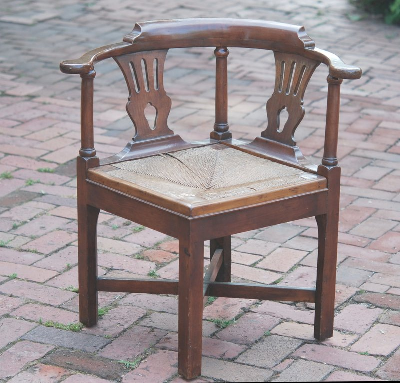 georgian cherry corner chair late 18th c for sale