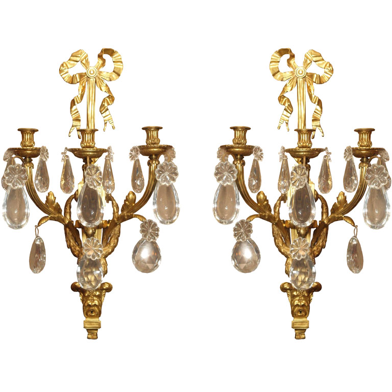 Antique French Louis 16th style Wall Sconces - CRS18 For Sale Antiques.com Classifieds