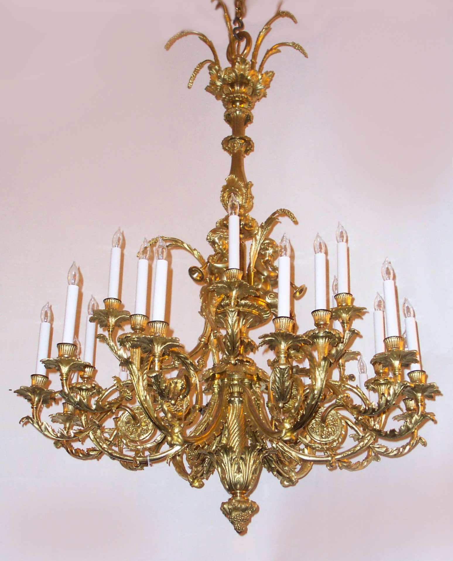 Antique french louis 16th gold bronze marie antoinette chandelier chb17 for sale antiques - Chandeliers on sale online ...