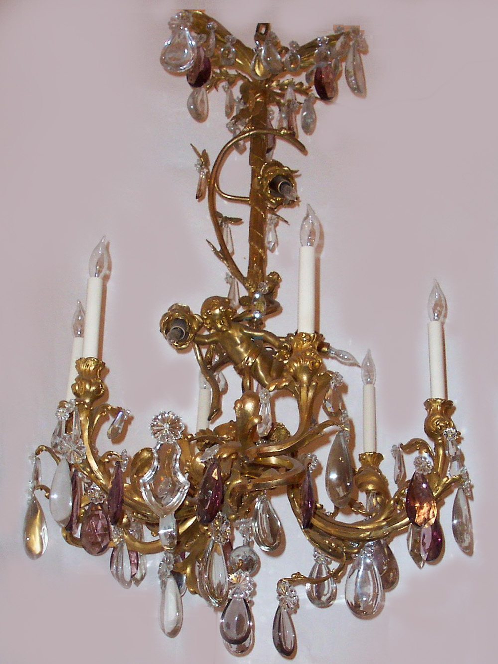 Antique French Empress Eugenie Bronze D Ore And Baccarat